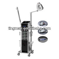 18 in 1 Ultrasonic/galvanic/electrotherapy/high frequency multifunction beauty salon equipment