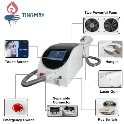 Q-switched Nd: YAG laser tattoo, eyeliner and eyebrow removal machine