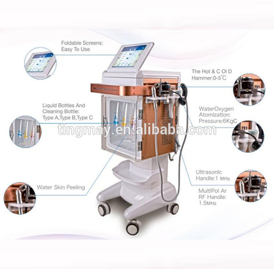 5 in 1 water microdermabrasion aqua peel oxygen facial hydro dermabrasion facial machine