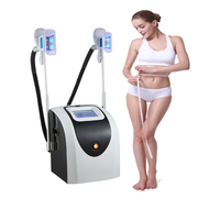 Beauty salon use 2 handles cryo cryotherapy vacuum body slimming cryolipolysis machine