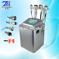 Cavitation tripolar radio frequency vacuum roller massage