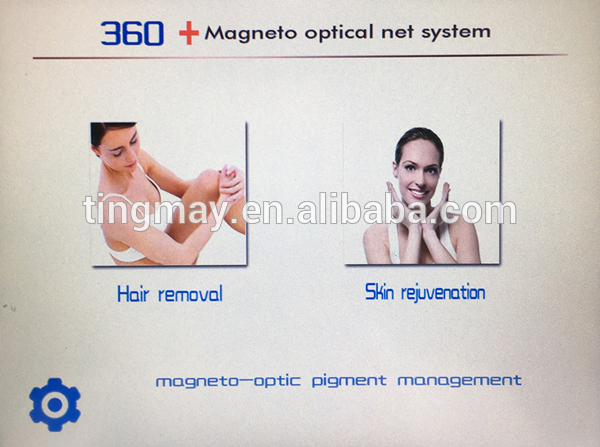 360 magneto optical system skin rejuvenation hair removal OPT SHR