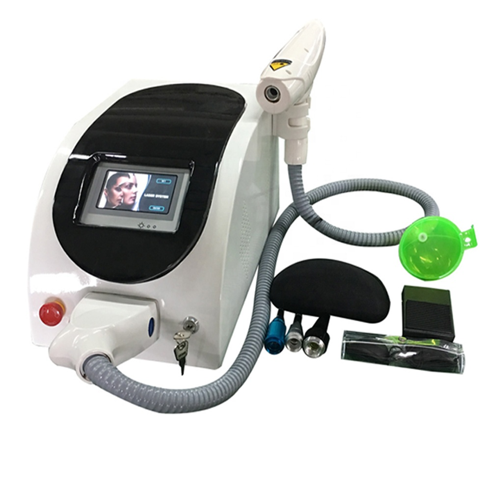 Portable high quality q-switch nd: yag laser tattoo removal machine