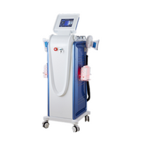2019 Hot 5 in 1 cryolipolysis double cryo handle face rf body rf cavitation lipolaser fat freeze slimming machine
