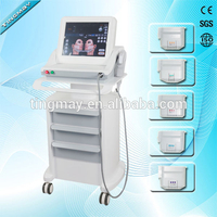 Portable hifu beauty machine (1.5/3/4.5/8/11/13mm hifu cartridges) with trolley