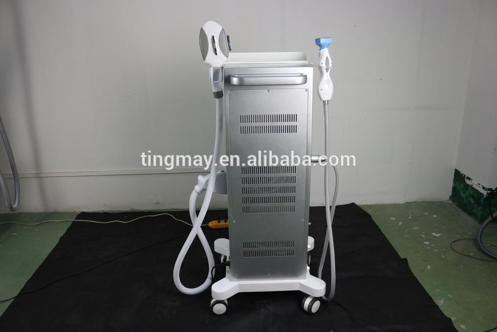 Vertical IPL SHR hair removal+fractional RF skin lifting machine