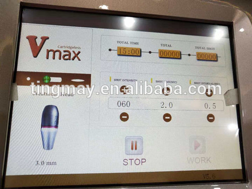 Vmax HIFU ultrasound machine 3.0mm 4.5mm 2 cartridges