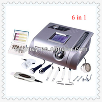 6 in 1 ultrasonic skin scrubber diamond microdermabrasion machine