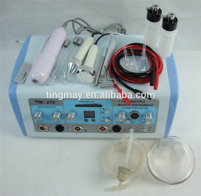 Portable Vacuum Spray High Frequency Galvanic Facial Beauty Machine 7 in 1