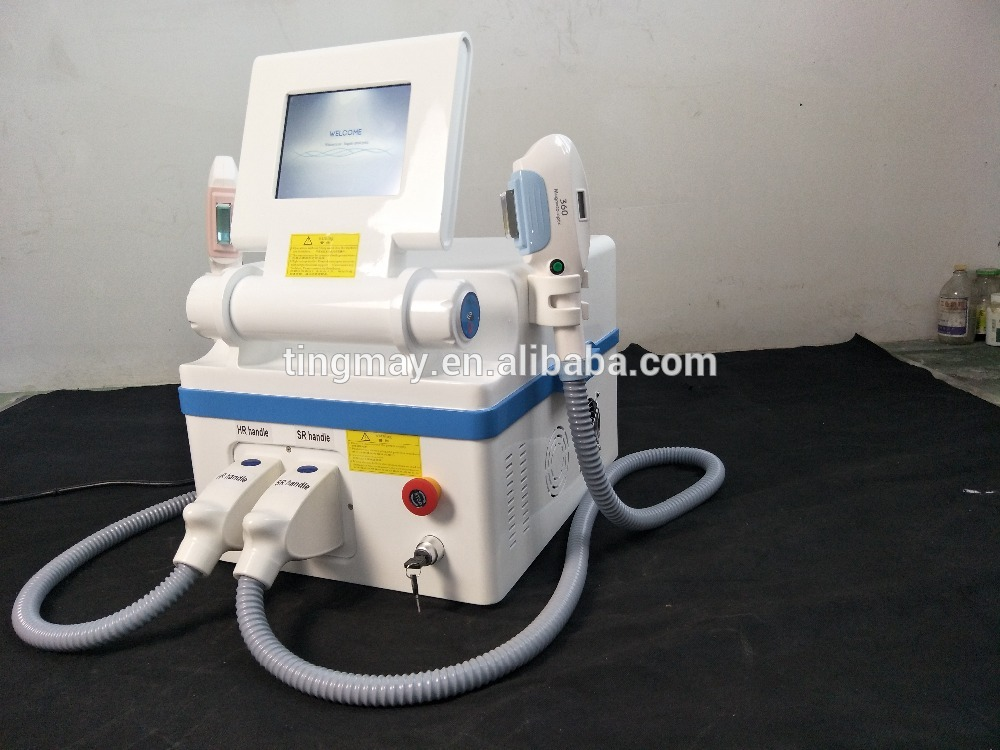 Double 360 Elight SHR Hair Removal and Skin Rejuvenation Machine E139