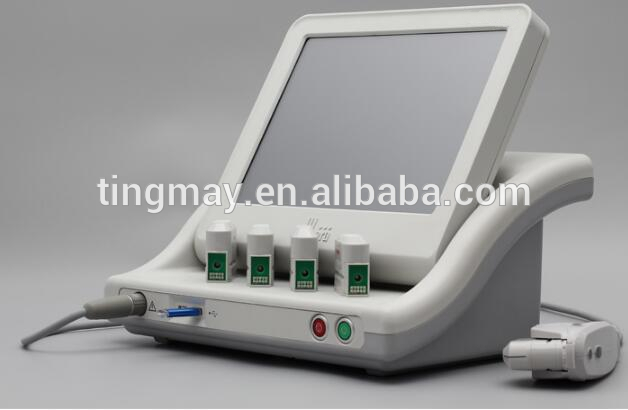 Popular 5cartridges SMAS lifting fast effect high intensity focused ultrasound hifu machine for face and body