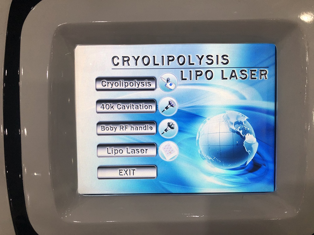 Portable criolipolisis fat freezing machine/4 in 1 cavitation rf cryolipolysis lipo laser machine factory price