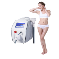 Beauty salon equipment portable q switched nd yag laser tattoo removal machine