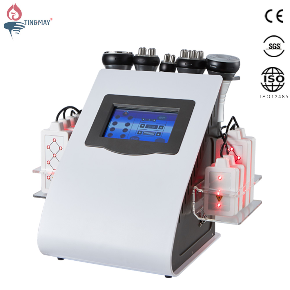 lipolaser slim vacuum rf lipo laser cavitation machine 6 in 1
