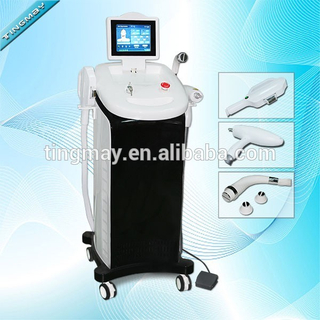 Vertical multifunction elight ipl rf nd yag laser Tattoo removal machine