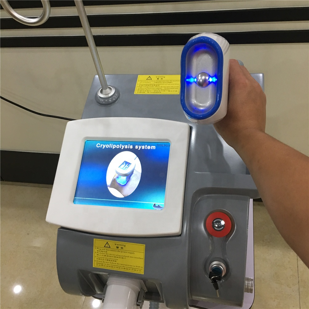 2019 newest China factory price portable 2handles fat freeze cryolipolysis slimming machine cryolipolisis double chin cryo