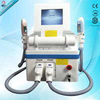 CE Approved 2 Handles Portable Elight IPL SHR Laser Hair Removal Machine
